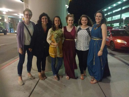 An airport pickup for Andrea (returning from Ecuador) after the Tapestry program