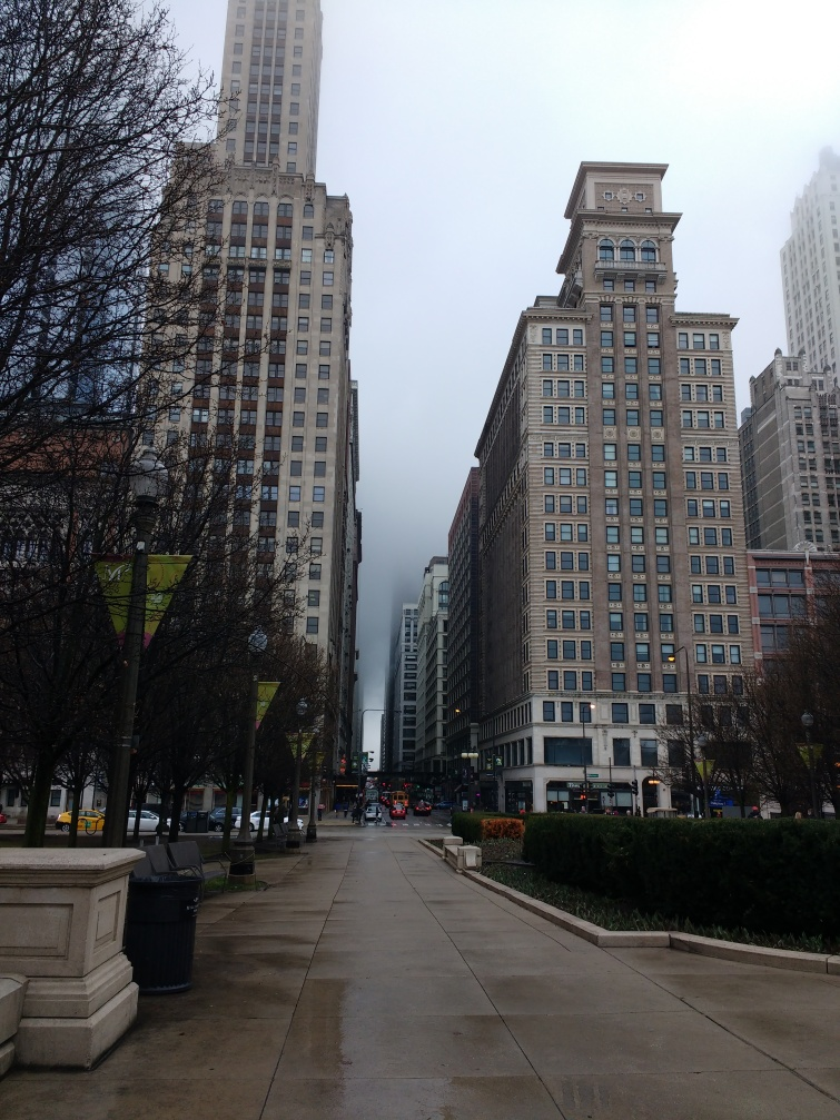 A rainy day exploring downtown Chicago