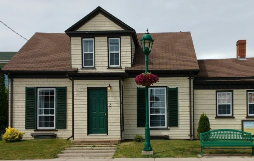 Our home away from home! The gables weren't green, but the shutters were!
